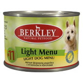 Купить онлайн BERKLEY № 11 ADULT DOG LIGHT MENU — Беркли для собак легкая формула Индейка и ягненок с яблоками - 200гр в Зубастик-ДВ (интернет-магазин зоотоваров) с доставкой по Хабаровску и по всей России.