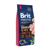 Купить онлайн Brit Premium by Nature Junior L для молодых собак крупных пород в Зубастик-ДВ (интернет-магазин зоотоваров) с доставкой по Хабаровску и по всей России.