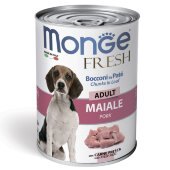 Купить онлайн Monge Dog Fresh Chunks in Loaf консервы для собак мясной рулет свинина 400 г в Зубастик-ДВ (интернет-магазин зоотоваров) с доставкой по Хабаровску и по всей России.